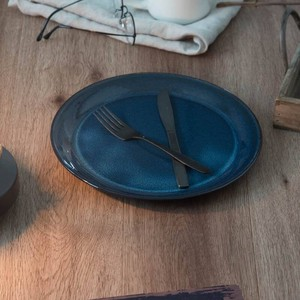 北欧ブルー 深ブルー 27cmプレート[日本製/美濃焼/洋食器]