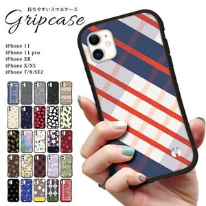 Smartphone Case iPhone Each Type Checkered Floral Pattern