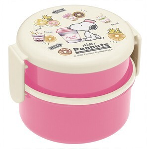 Round shape Lunch Box 2 Steps SNOOPY Donut