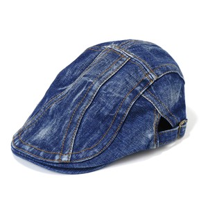 Ladies Men's 20 Denim Flat cap