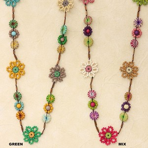 Flower Beads Necklace Color 20 SP