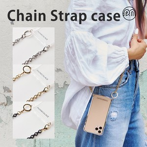 iPhone iPhone iPhone Chain Shoulder Strap Attached Clear Case