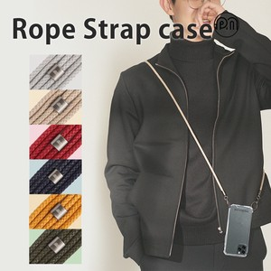 iPhone iPhone iPhone Rope Shoulder Strap Attached Clear Case