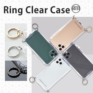 iPhone SE Strap Ring Attached Clear Case
