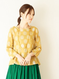 Dot Jacquard Double Gauze Pullover Color