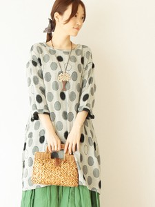 Dot Jacquard Double Gauze Tunic Color