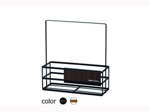 WOODY Steel Rack Bath Bath Product Dispenser