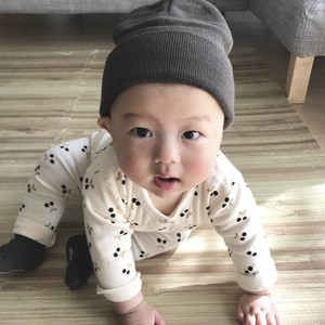 Korea Baby Cherries Long Sleeve Set Cherry Boys Girl Kids Newborn Scandinavia S/S A/W