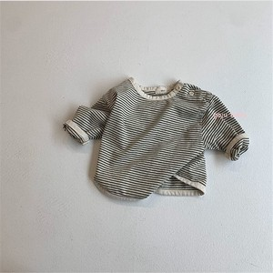 Korea Baby Cotton soft Border T-shirt S/S A/W Boys Girl Scandinavia Sweatshirt