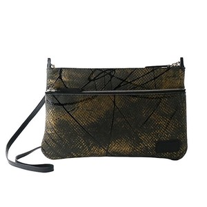 SO type Push Black Leather Clutch Shoulder