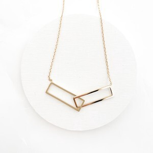 rectangle hoop necklace