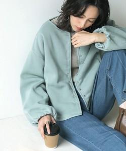 まとめ買い対象★【SALE】EC裏起毛ショートジャケット【即納】