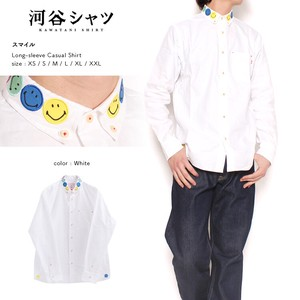 Shirt Smile Casual Long Sleeve Shirt