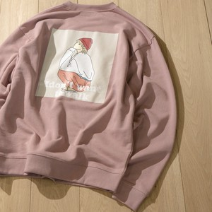 Fleece Bag Print Crew Neck Sweat