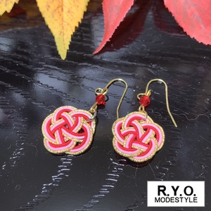 Mizuhiki Pierced Earring Made in Japan Accessory