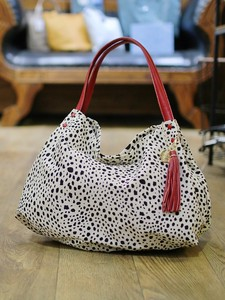 Cow Leather Attached Dalmatian Bag