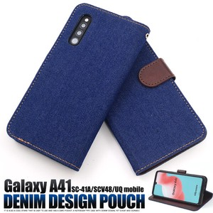 Smartphone Case A4 SC CV Denim Design Notebook Type Case