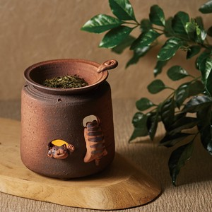 "Deodorize ""Tokoname ware"" Yamada Make Up Cat Incense Burner"