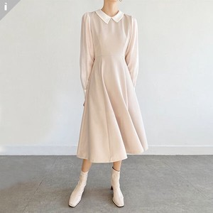 Flare One-piece Dress Slim Long One-piece Dress