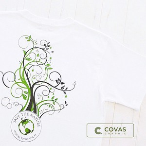 Unisex Print T-shirt Botanical White Short Sleeve T-shirt Men's Ladies