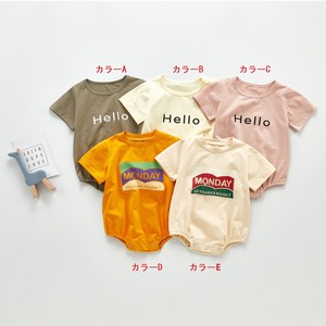 Korea Baby Short Sleeve Alphabet T-shirt Rompers Girl Boys Newborn Kids S/S Scandinavia