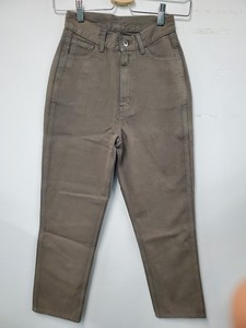 Color Denim Pants Olive