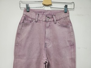 Color Denim Pants Pink