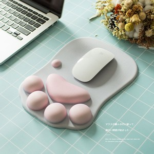 Mouse Pad Mouse Cat Cat Dark Hray Cat Paw