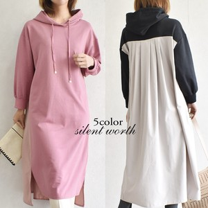 [2021 New Product] Material Switching Hoody One-piece Dress