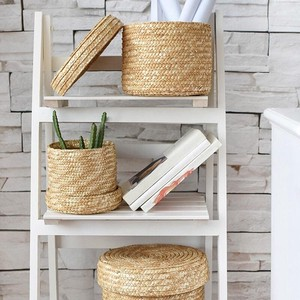 With Lid Storage Basket 3-unit Set