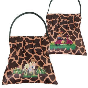 Tipi Giraffe Lady Girl Print Tuck Single-shoulder Bag
