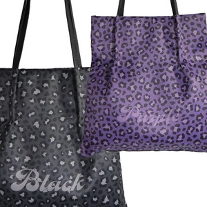 Tipi Leopard Black Purple Long Tote Bag