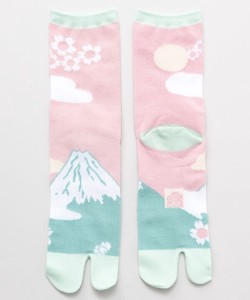 [2021 New Product] Tabi Socks type Sock Fuji Sakura