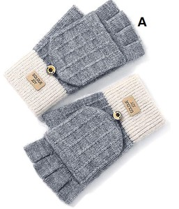 Ladies Glove Glove Mitten Attached Smartphone Knitted Commuting Going To School Present