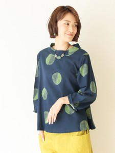 Organic Cotton Dot Print Pullover Color