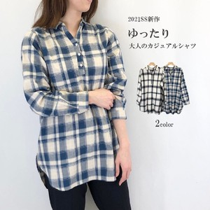 Cotton Material Checkered Tunic