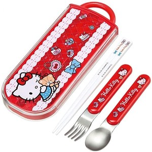 Antibacterial Wash In The Dishwasher Ride Trio Set Hello Kitty Girl Made in Japan
