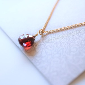Birthstone Garnet Necklace
