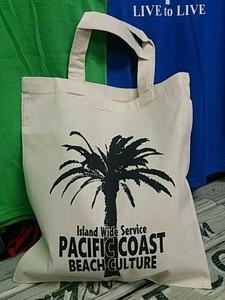 オンザビーチ on the Beach 【 コットントートバッグ(S)/ PALM TREE 】レジ袋 エコバッグ OTB-CTS1