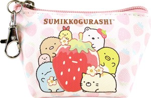 Tease Sumikko gurashi Triangle Mini Pouch Strawberry