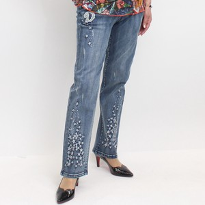 Embroidery Design Denim Pants