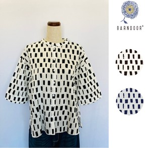 Reservations Orders Items Square Dot Cotton Blouse