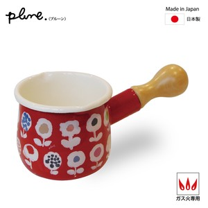 Prune Enamel Petit Milk Pan Candy Flower