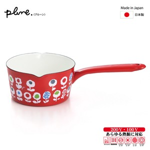 Prune Enamel Milk Pan Candy Flower M-2
