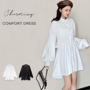 Shirt One-piece Dress One-piece Dress Long Sleeve Bag Long Flare One-piece Dress