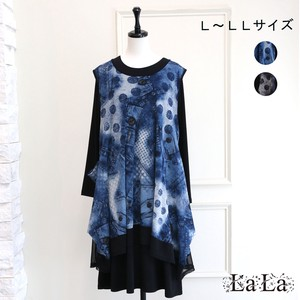 [2021 New Product] Denim Print Ensemble One-piece Dress