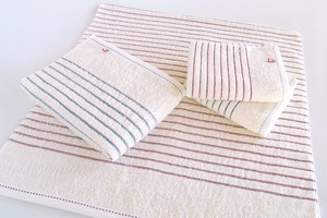 Imabari Organic Border Bathing Towel