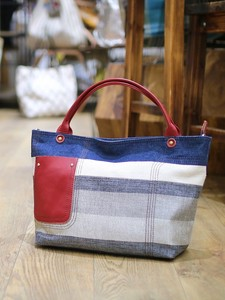 Cow Leather Attached Border 2-Way Bag