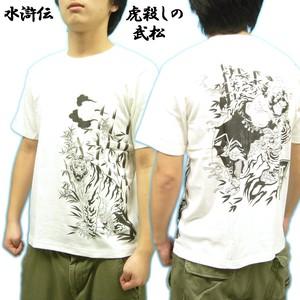 和柄Tシャツ 水滸伝 刺青風 Japanese Tattoo