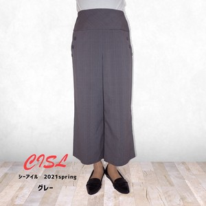 20 S/S Checkered Button wide pants